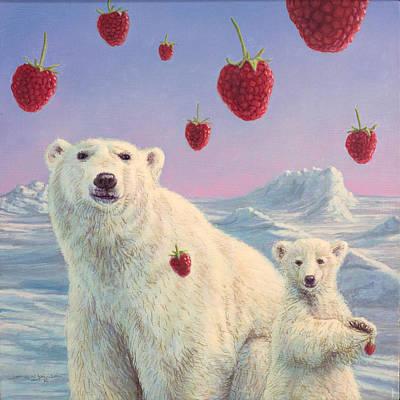Polar Berries Original by James W Johnson