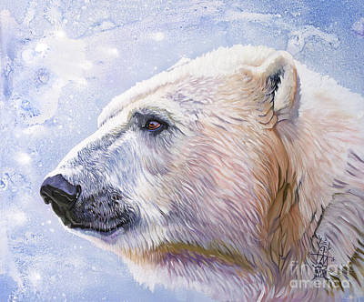 Painting - Polar Blue by J W Baker