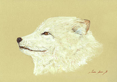 Polar Fox Portrait Original by Juan  Bosco