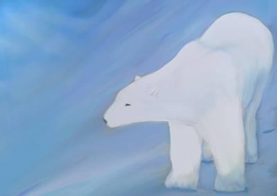 Acryllic Painting - Polar by Mari  Loekken