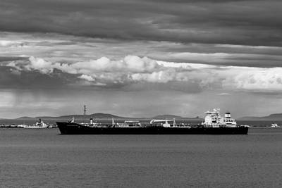 Photograph - Polar Resolution Enters Port Angeles by TL  Mair