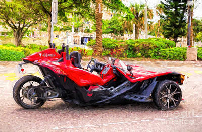 Photograph - Polaris Slingshot Sl Tricycle by Les Palenik