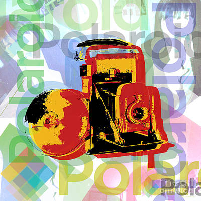 Digital Art - Polaroid Camera Pop Art by Jean luc Comperat