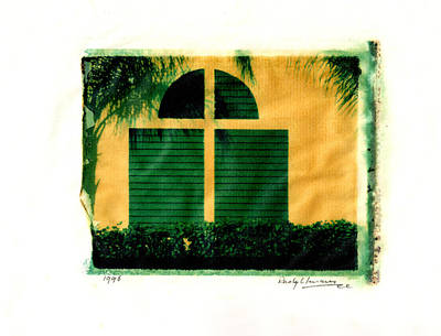 Photograph - Polaroid Window Shadows by Rudy Umans