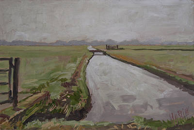 Holland Painting - Polder Near Nigtevecht by Nop Briex