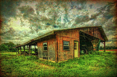 Art Print featuring the photograph Pole Barn by Lewis Mann