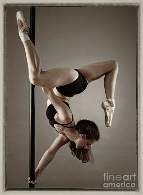 Photograph - Pole Fitness Dancer by Michael Edwards