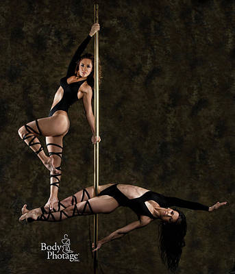 Photograph - Pole Ninjas by MAD Art and Circus