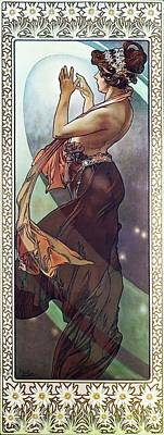 Painting - Pole Star by Alphonse Mucha