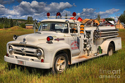 Photograph - Polebridge Fire Truck by Adam Jewell