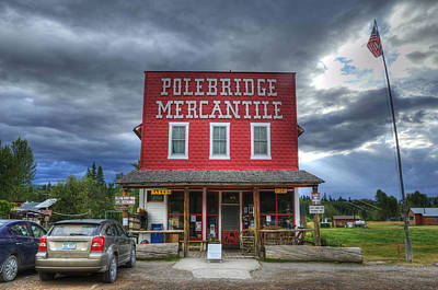 Polebridge Mercantile Art Print by Darlene Bushue