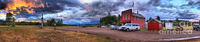 Photograph - Polebridge Town Panorama by Adam Jewell
