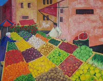 Polermo Street Market Original by Lore Rossi