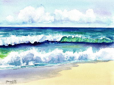 Polhale Waves 3 Art Print by Marionette Taboniar