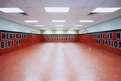 Police Academy Defense Tactics Training Room Art Print by Skip Nall