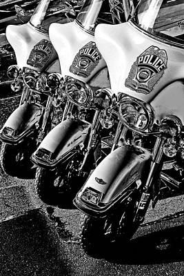 Police Bikes Art Print