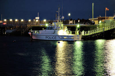 Photograph - Police Boat by Cheryl Hall