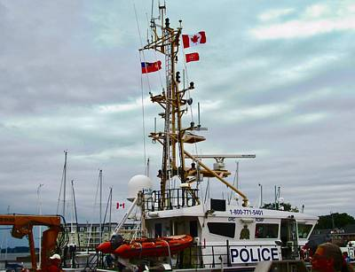 Photograph - Police Boat by Stephanie Moore