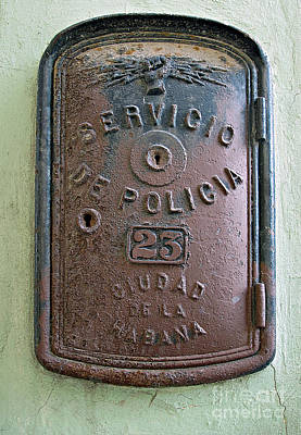 Photograph - Police Call Box by Ethna Gillespie