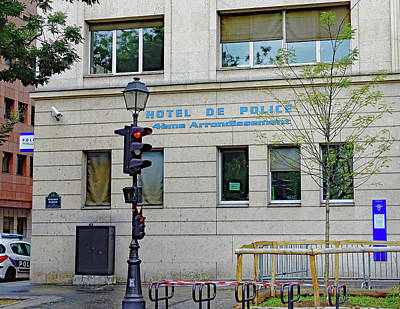 Photograph - Police Headquarters For The Local Precinct In Paris, France by Richard Rosenshein