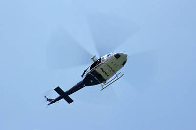 Photograph - Police Helicopter On Australian Day by Miroslava Jurcik