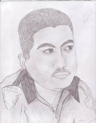 Police Officer Art Print by Helen Vanterpool