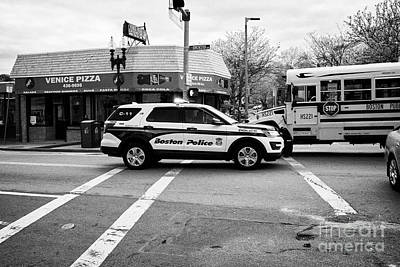 police police ford interceptor suv patrol vehicle on call Boston USA Art Print