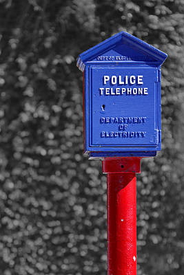 Photograph - Police Telephone by Nicholas Blackwell