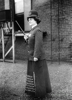 Policewoman Photograph - Policewoman, 1909 by Granger