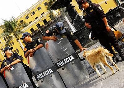 Photograph - Policia Con Perro by Debi Starr