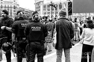 Photograph - Policia Barcelona by John Rizzuto