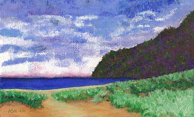 Mixed Media - Polihale Beach, Kauai by Anne Katzeff