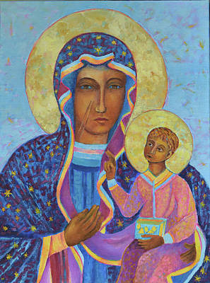 Catholic For Sale Painting - Polish Black Madonna Of Czestochowa Our Lady Of Czestochowa  by Magdalena Walulik