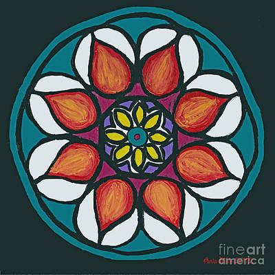 Painting - Polish Folk Art Flower II by Ania M Milo