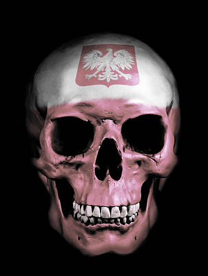 Art Print featuring the digital art Polish Skull by Nicklas Gustafsson