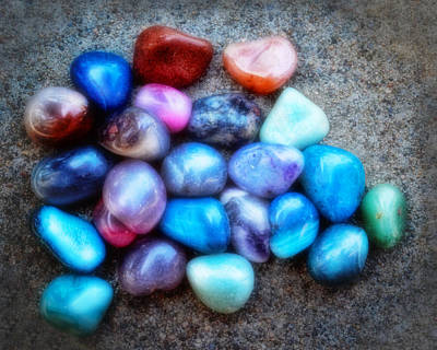 Photograph - Polished Rocks- Photography by Ann Powell