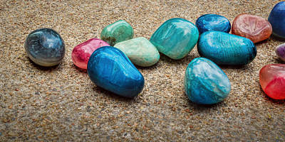 Photograph - Polished Stones - Photography by Ann Powell