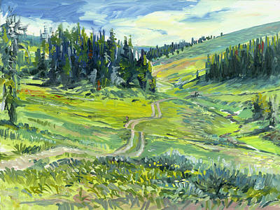 Idaho Landscape Painting - Polite Butterflies by Steve Spencer