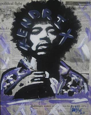 Painting - Political Jimi by Antonio Moore