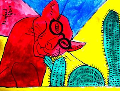 Painting - Politicats 2 Why Is Un-affordable Obamacare Not Repealed Potus? Answer John Mccain And Congress by Richard W Linford