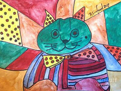 Painting - Politicats Copyright Did North Korea Just Fire A Missile Over Japan? by Richard W Linford