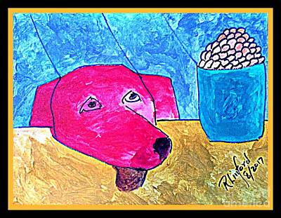 Painting - Politidogs Copyright Please Do Your Best To Save Me From Harvey Flooding by Richard W Linford