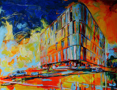 Painting - Kreispolizeibehoerde, Mettmann - Police Headquarters, Mettmann by Koro Arandia