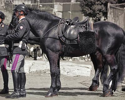 Photograph - Polizia A Cavallo by JAMART Photography