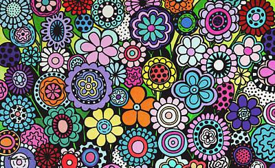 Painting - Polka Dot Bouquet by Beth Ann Scott