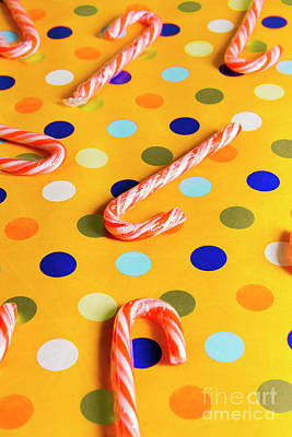 Photograph - Polka-dot Christmas Canes by Jorgo Photography - Wall Art Gallery