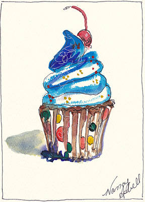 Fun Card Mixed Media - Polka Dot Cupcake by Michele Hollister - for Nancy Asbell