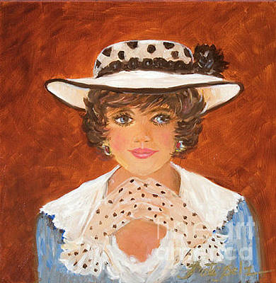 Painting - Polka Dot Hat And Gloves by Pati Pelz
