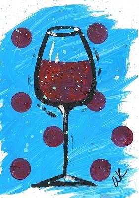 Polka Dot Merlot Original by Alyson Appleton