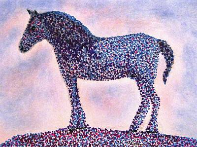 Drawing - Polka Dot Percheron by Angela Davies